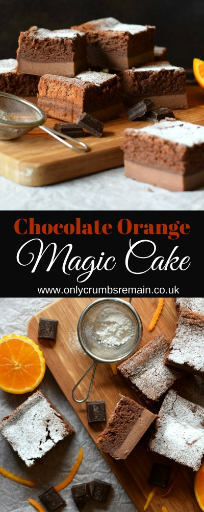 A magic cake recipe, a relatively simple cake made with one batter to produce a three layered cake.
