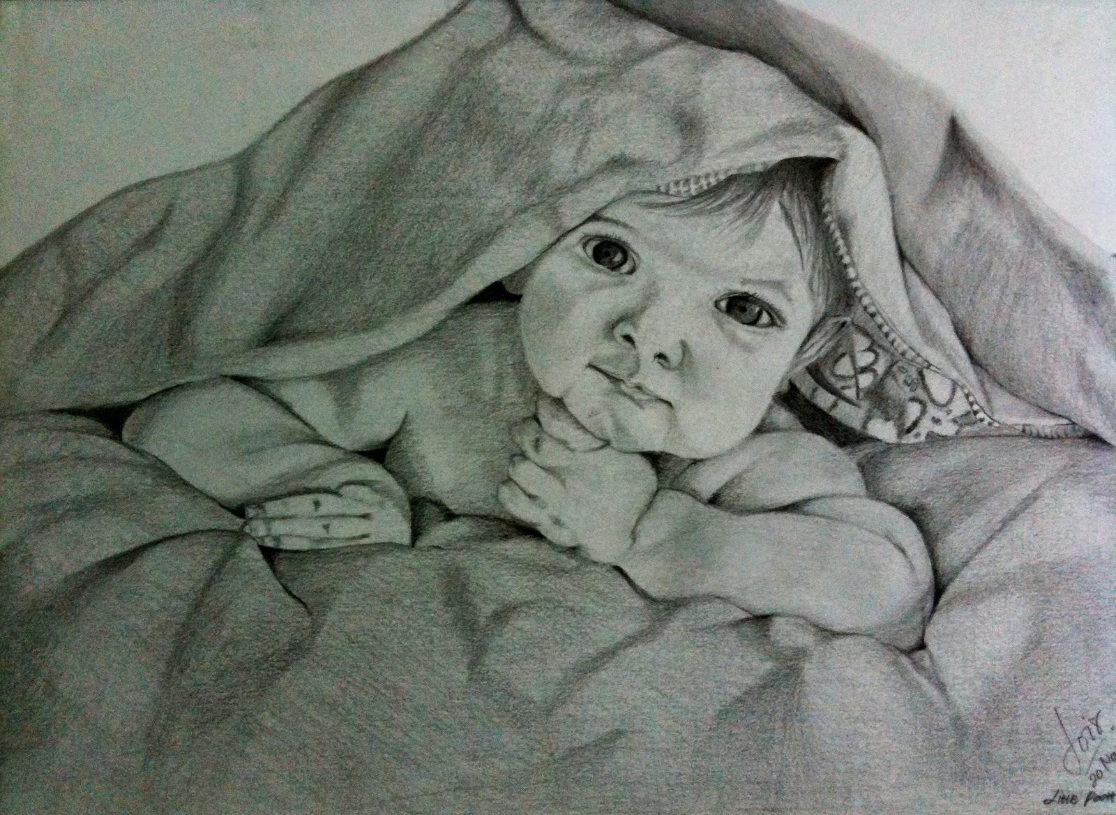 Sketsa Gambar Anak Bayi Sobsketsa