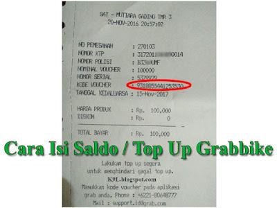 Cara Isi Saldo Top Up Grabbike Via Alfamart
