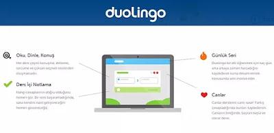 internetten ingilizce öğrenme siteleri duolingo