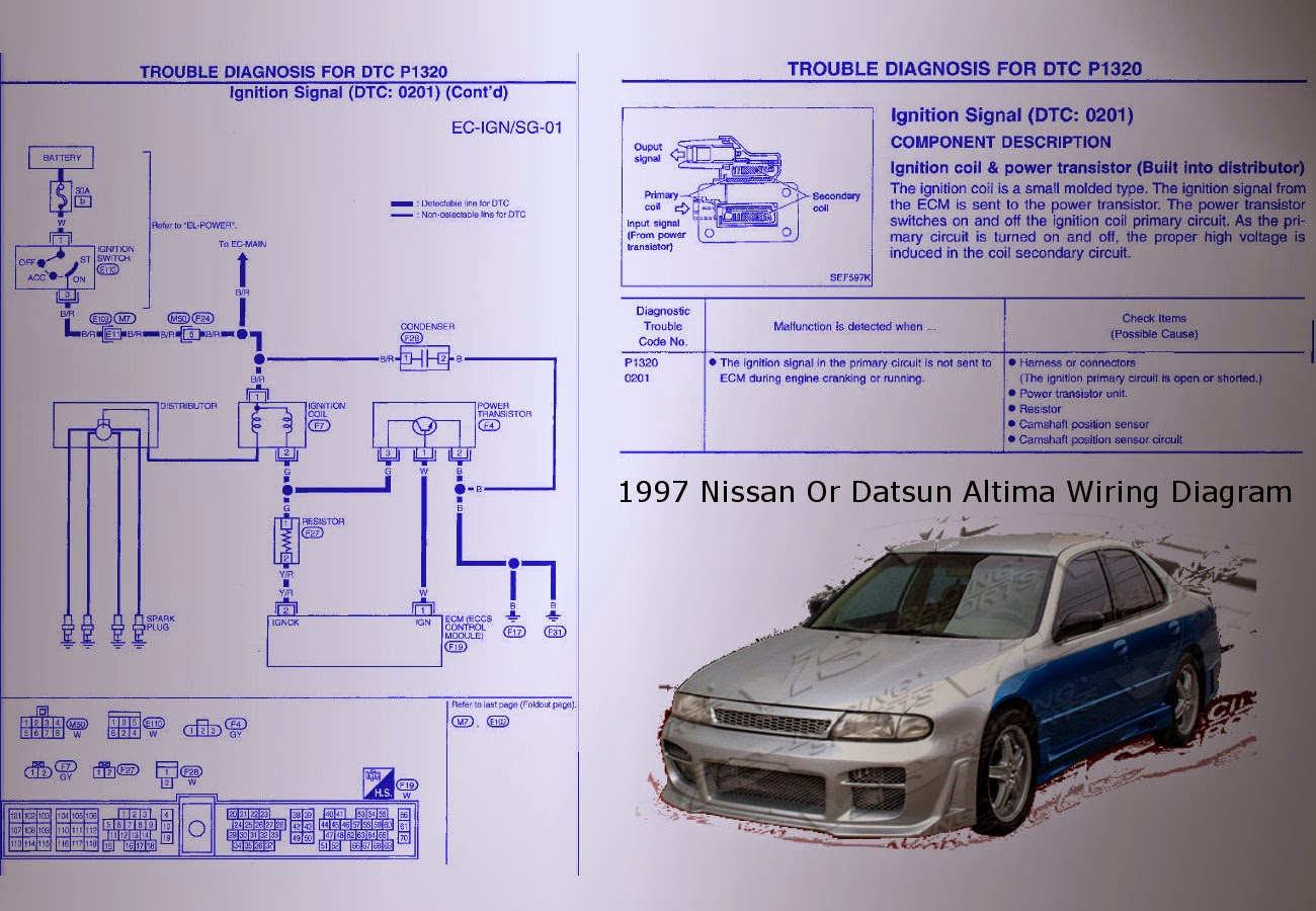 1999 nissan altima distributor wiring diagram wired home network datsun 1600 get free image about