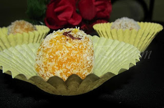 Mango coconut laddu