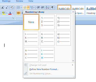 Number list format ms word
