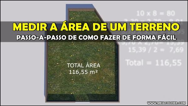 calculo para medir área de um terreno