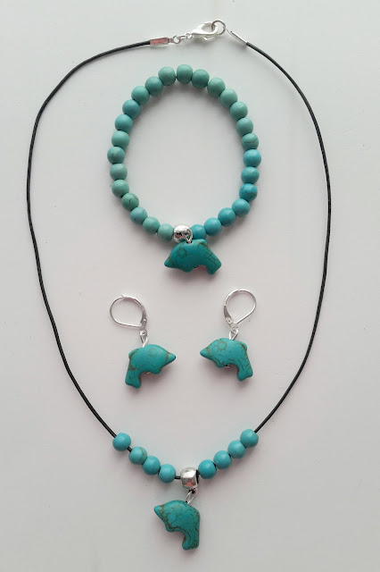 Conjunto delfines azules