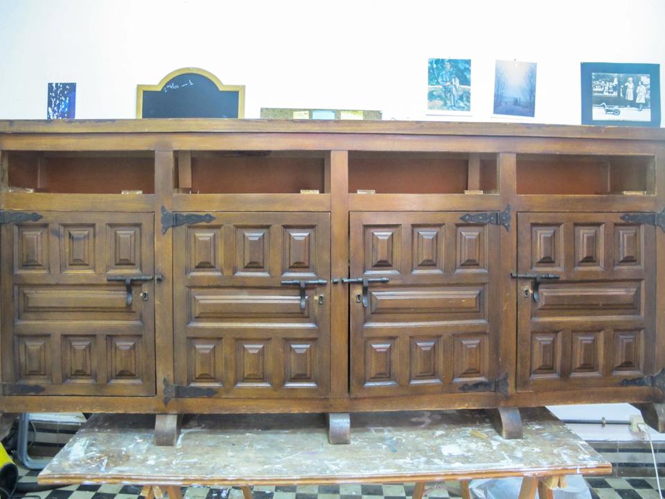Restauraci n de un mueble castellano - Muebles castellanos ...
