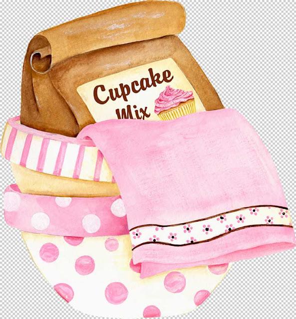 Dekupaj için Cupcake Resimleri