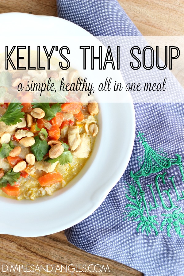 thai soup, chicken soup, all in one dinner, dinner recipe, green curry