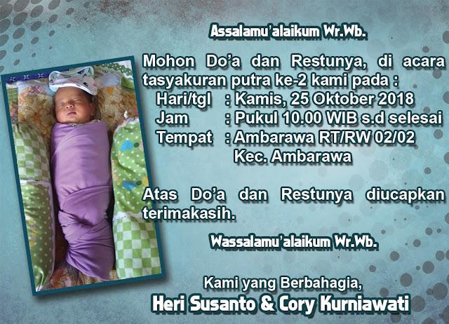 Desain Kartu Undangan Tasyakuran Kelahiran Bayi
