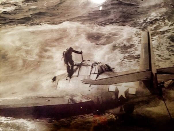 25 Fascinating Pictures Show How Cool Our Grandparents Used To Be - Photo Of My Grandfather Exiting His Plane After Getting Shot Down