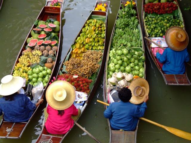 Chợ nổi trên sông độc đáo Thái Lan