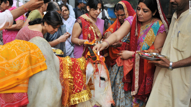 Cows are viewed as sacred in Hinduism, and eating the meat broke his religious vow, Paul says.