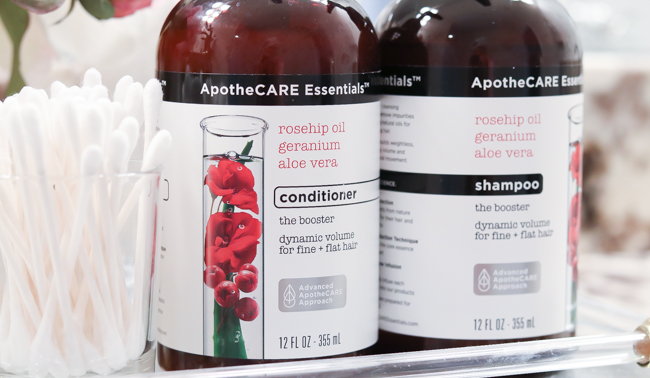 apothecare essentials the booster shampoo and conditioner