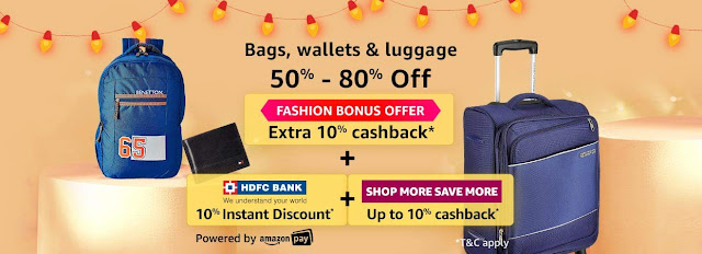 Bags, Wallets & Luggage 50% to 80% off