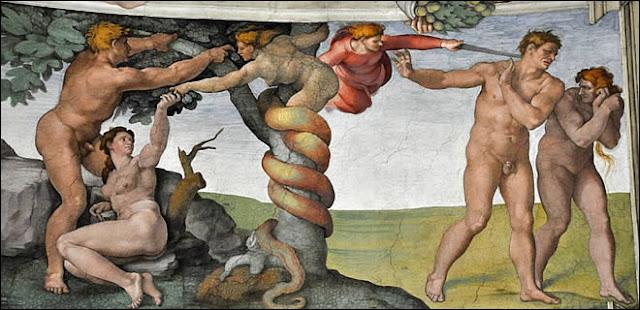 Habitude de dormir nu perturbée, selon leLivre de la Genèse, Adam et Ève ont été expulsés du paradis parce qu'ils avaient mangé une pomme. Et depuis ce terrible jour, vous et moi sommes voués au malheur: tels des Sysiphes, nous devons pousser ce «péché» tout au long de notre vie sans jamais pouvoir racheter la faute originelle de nos lointains parents, et encore moins ouvrir la porte du paradis.