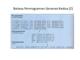 Bahasa Pemrograman Generasi kedua