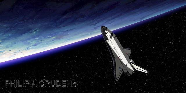 Billion Planets Astronomy and Art: Space Shuttle Art