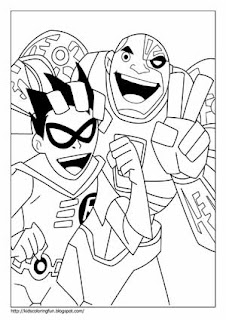 Teen Titan Robin Fantasy Coloring Pages