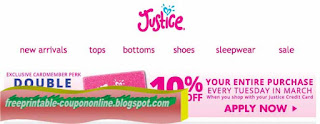 Free Printable Justice For Girls Coupons