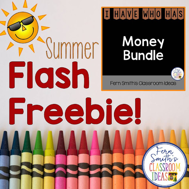 Your students will adore this FREE  I Have, Who Has? Money Bundle. Coins and Bills are all included for your students to learn and review important skills at the same time as having fun in YOUR classroom! You will love the no prep, print and go ease of this resource with all ANSWER KEYS Included with this FLASH FREEBIE! At TpT!