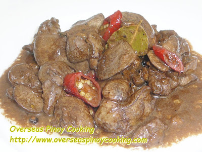 Chicken Liver in Coconut Milk