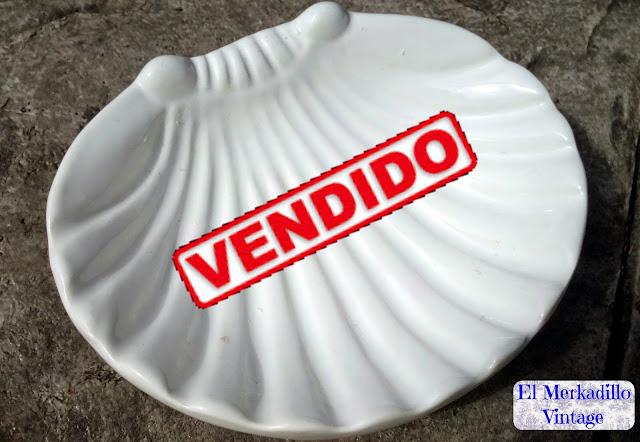 Jabonera de Cerámica Vintage - Modelo Concha