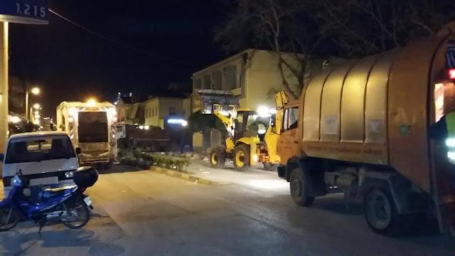 Άμεσα καθάρισαν και έδωσαν προς χρήση την οδό 25η Μαρτίου στο Ναύπλιο μετά το πανηγύρι
