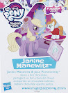 My Little Pony Wave 20 Janine Manewitz Blind Bag Card
