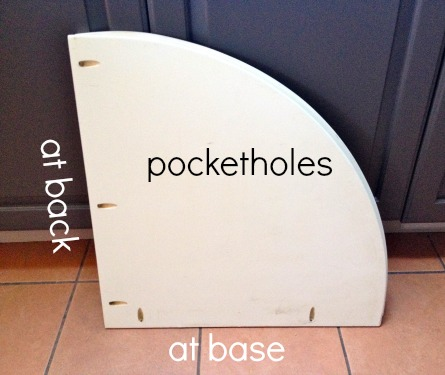 pocket holes in dividers at back and base
