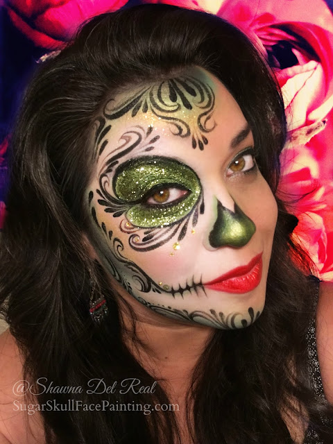 Green Sugar Skull makeup