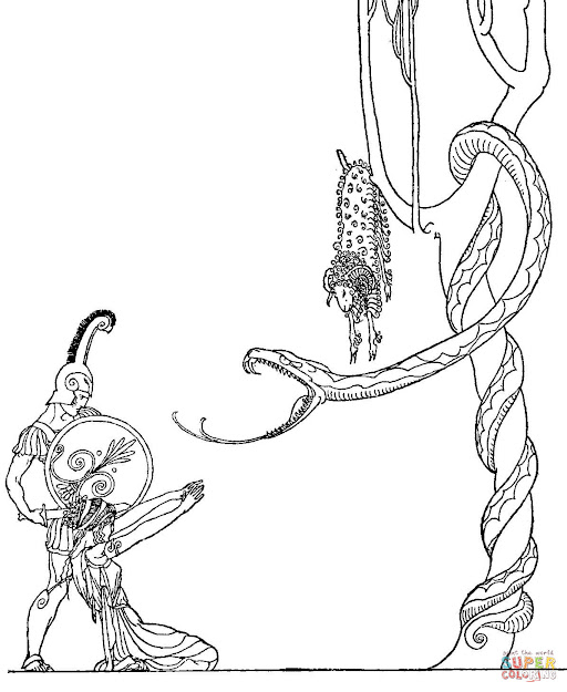Medea And The Golden Fleece Coloring Pages