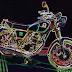 Yamaha SR 400 papercraft - pierwszy motocykl w mojej kolekcji
