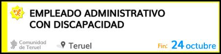 Empleado administrativo con discapacidad en Teruel