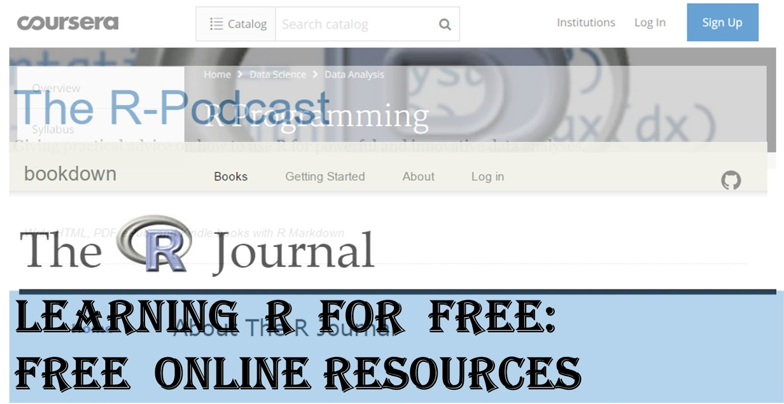 Learning R for FREE: Free online resources