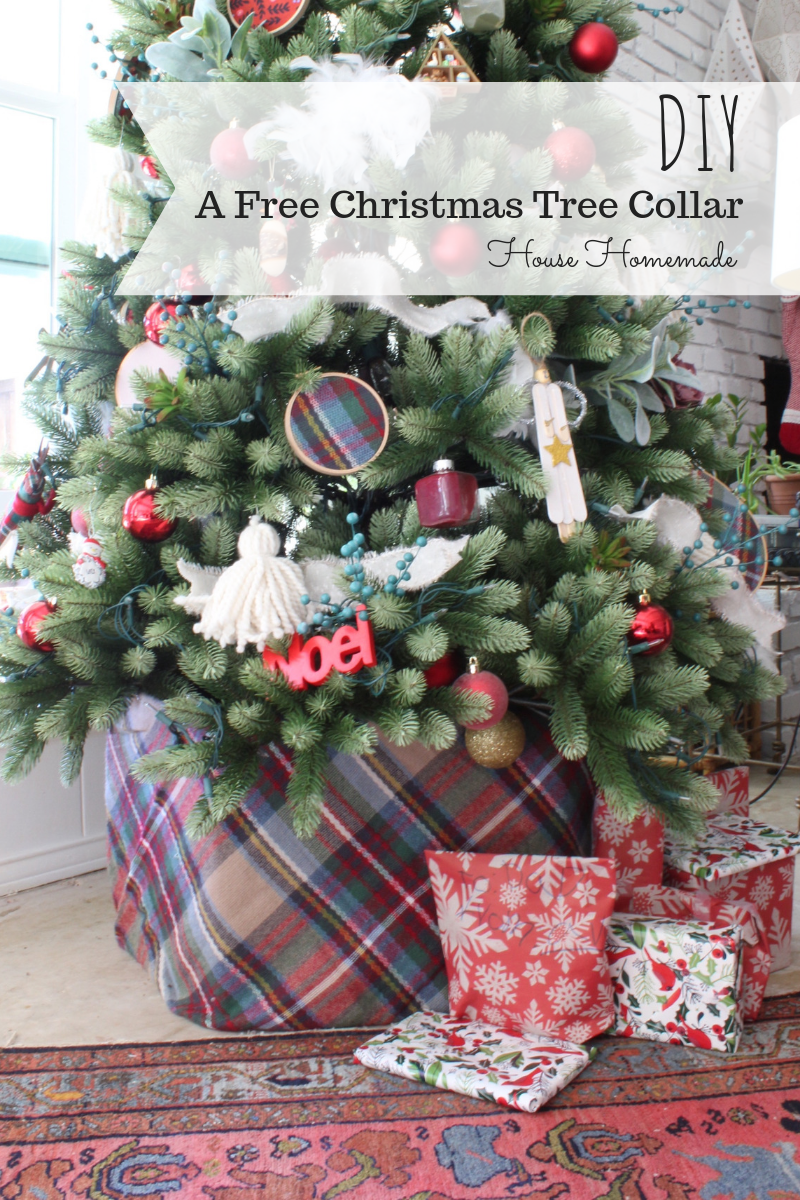 A free Christmas tree collar DIY | House Homemade