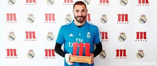Benzema premiado como el jugador cinco estrellas de Mahou