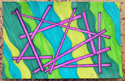 A pen and ink doodle meditation in pink and greens and a blurb about Spring and its renewal.