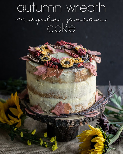 autumn wreath maple pecan cake recipe
