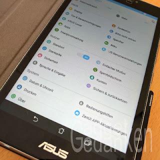ZenPad Z370C: Einstellungsmenü ohne neue Benutzer