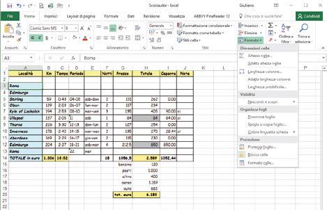 Come formattare un foglio Excel