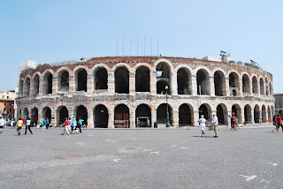 The Arena di Verona hosted a football match in the early days of the local football team, Hellas Verona