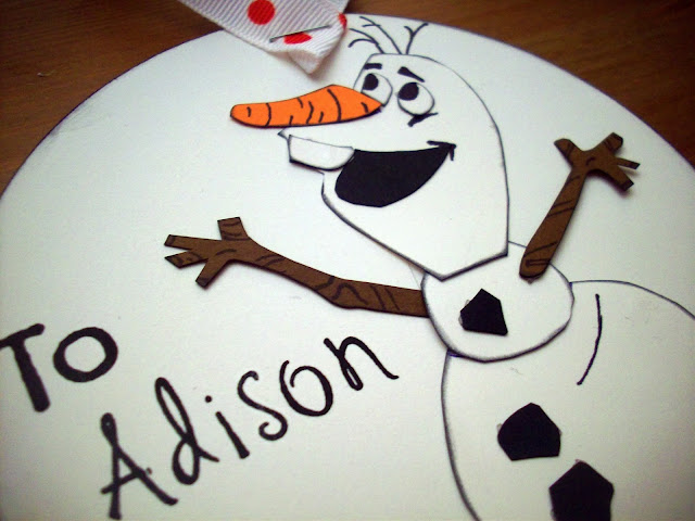 Olaf from FROZEN gift tag closeup #Frozen Fun #shop #cbias
