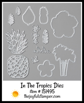 Stampin' Up! In The Tropics Dies | Nicole Steele The Joyful Stamper
