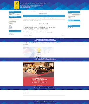Jurnal Ilmu Informasi, Perpustakaan dan Kearsipan  UI
