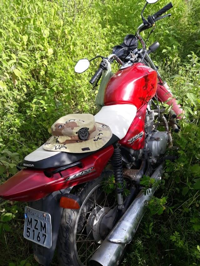 GTO recupera moto tomada de assalto na zona rural de Pau dos Ferros