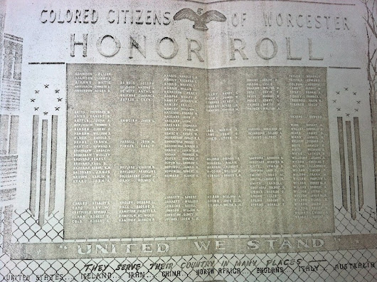 """Colored Citizens of Worcester"" Honor Roll, World War II"