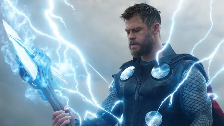 Avengers: Endgame, Thor, Stormbreaker, Hammer, 4K, #24