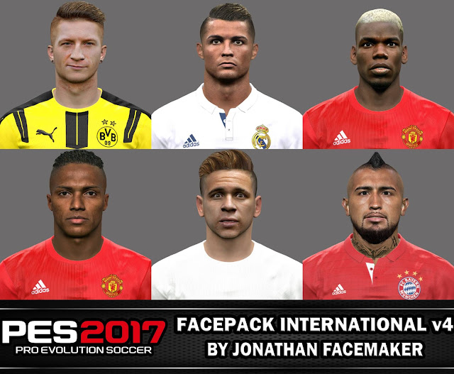 PES 2017 Facepack International v4 by Jonathan Facemaker