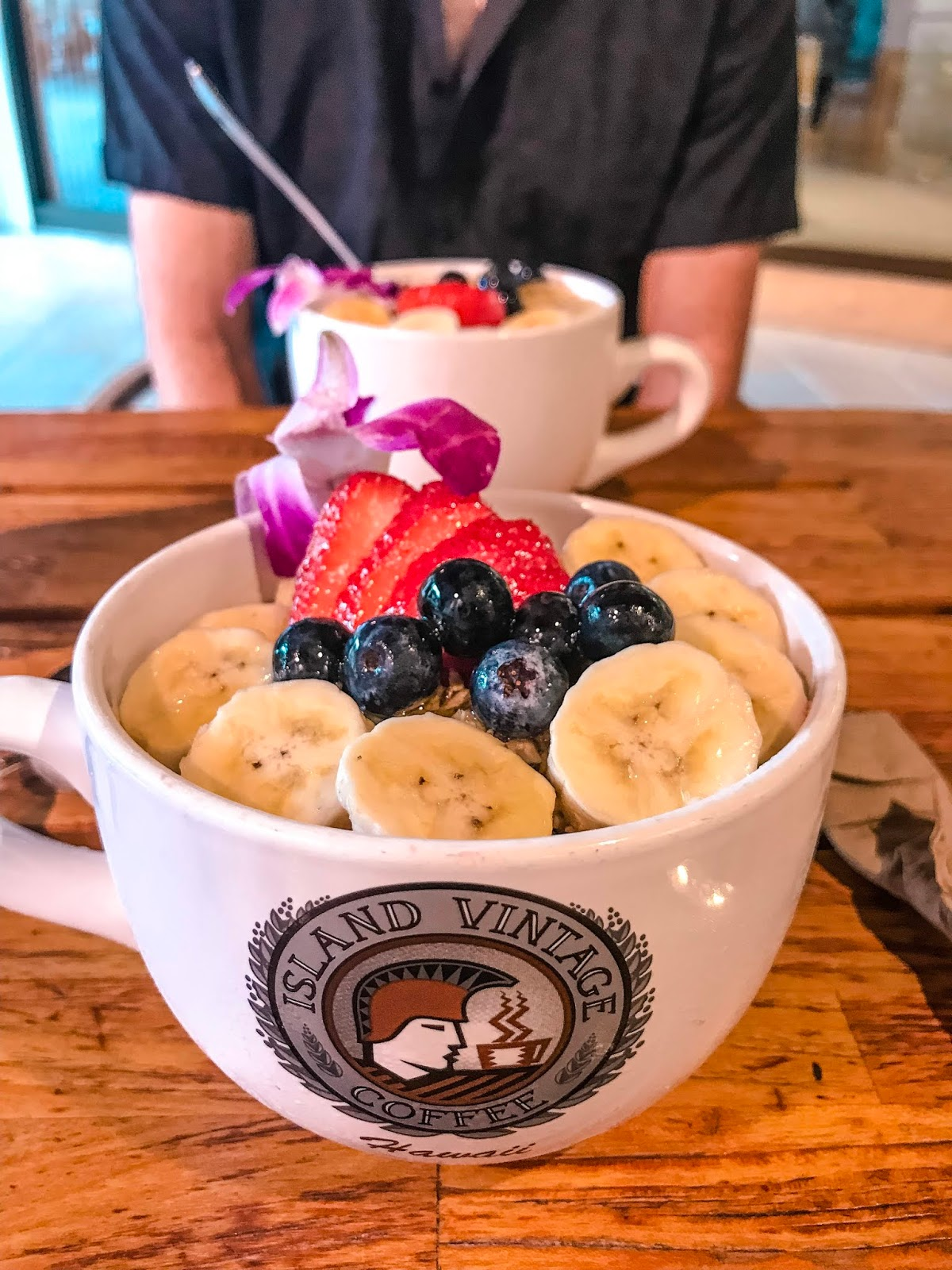 Acai Bowls at Island Vintage Coffee in Waikiki, Hawaii