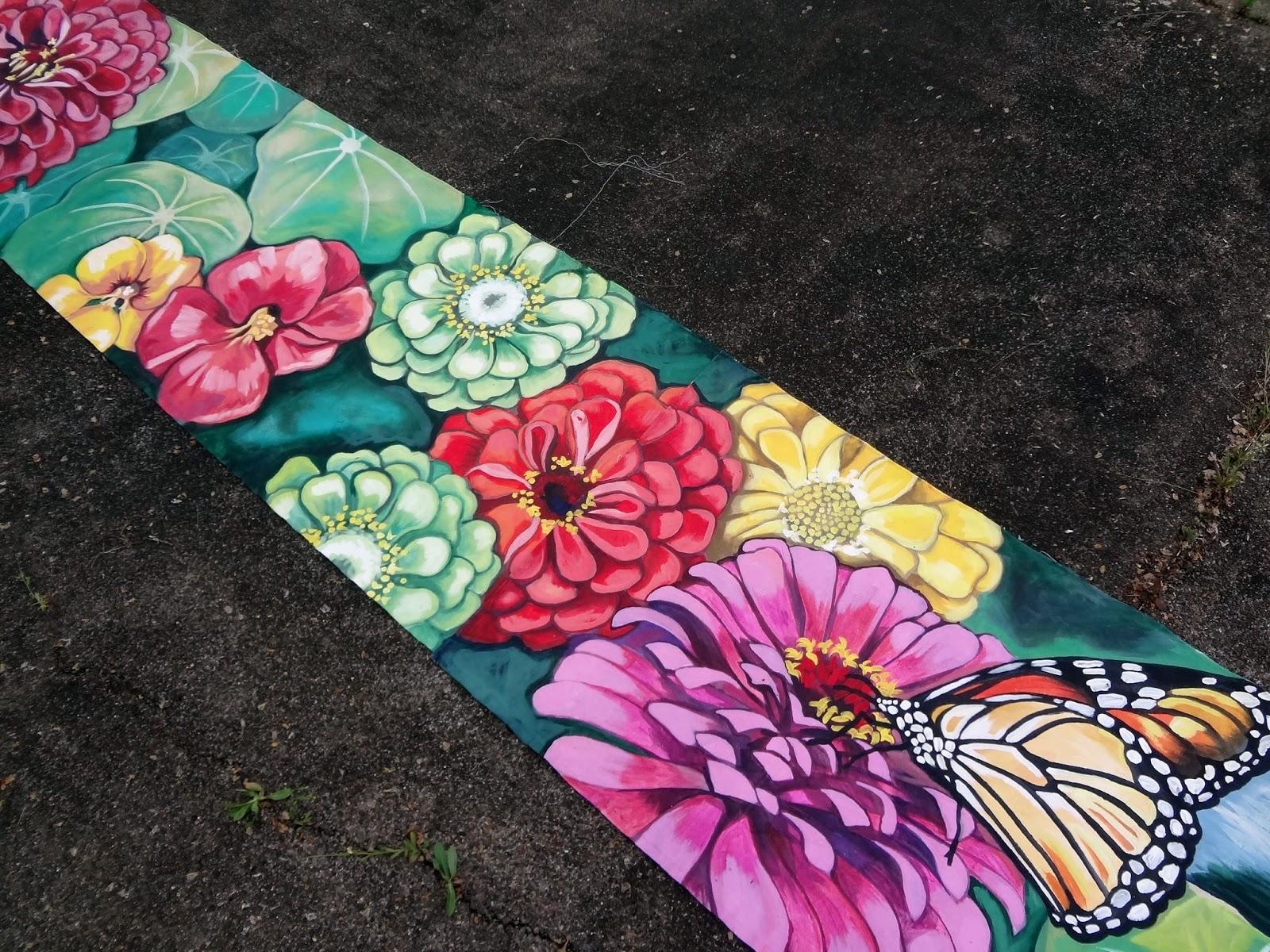 The Talking Walls Spring Garden Porch Banner Mural